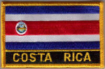 Costa Rica Embroidered Flag Patch, style 09